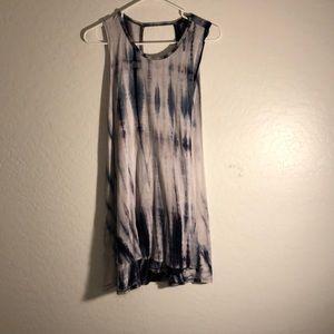 Espresso blue and white tie dye dress